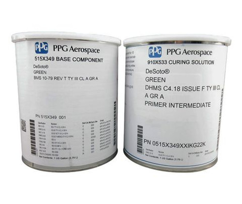 PPG Aerospace® DeSoto® 515X349 Green Boeing Source Approved BMS 10-79R Type III Class A Grade A Spec Conventional Epoxy Primer - Gallon Kit