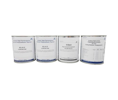 AkzoNobel ECL-G-2/PC-233/TR-109 Eclipse® BAC900 Clear BMS 10-60 Type I & II, Class B, Grade D Spec High-Solids Polyurethane Enamel Topcoat - 4-Quart Kit
