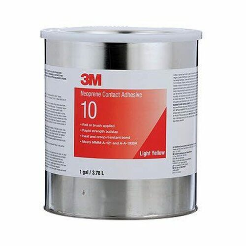 3M™ 021200-20274 Scotch-Weld™ 10 Light Yellow Neoprene Contact Adhesive - 3.78 Liter (Gallon) Can