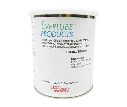 Everlube® 620 Concentrate Gray/Black BMS 3-8F, Type I Spec Thermally Cured MoS2/Graphite Based Solid Film Lubricant - Quart Can