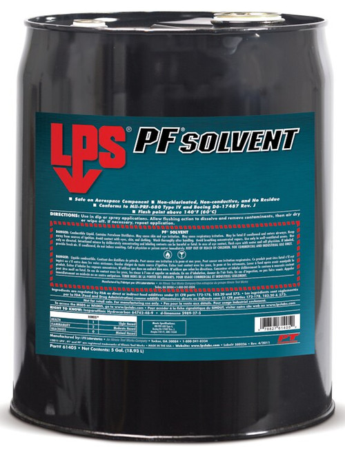 LPS® 61405 PF Solvent Clear/White Penetrating Degreaser - 5 Gallon Steel Pail