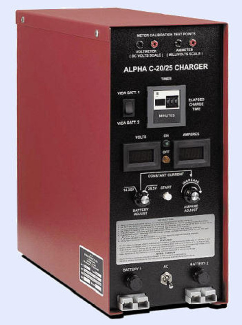Power Products 4142 Model ALPHA C-25 Aircraft Lead Acid & Ni-Cad Battery Charger