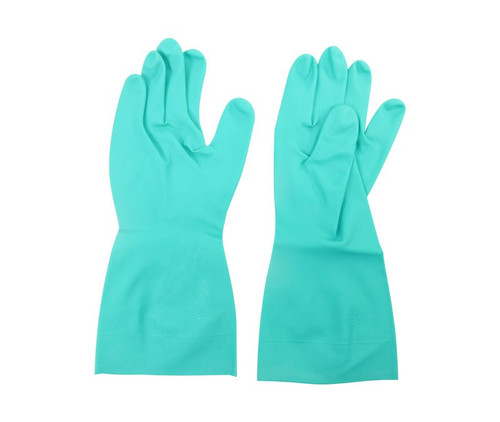 Ansell 37-155-9 Solvex® Green 15 mil Sandpatch Grip Nitrile Gloves - 1 Pair