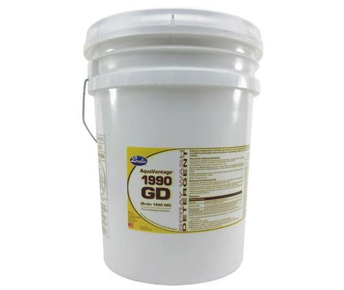 Brulin 301008-05 AquaVantage® 1990 GD Yellow Spray Wash Detergent - 5 Gallon Pail