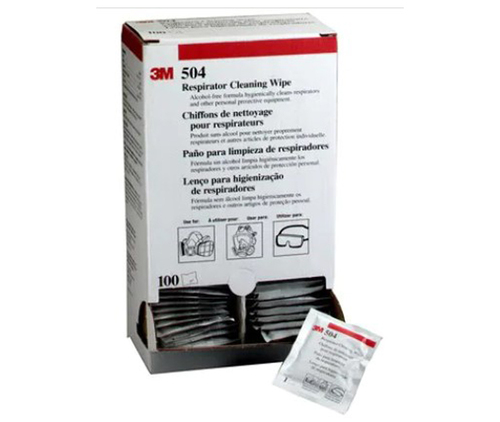 3M™ 051131-07065 Alcohol-Free 504 Respirator Cleaning Wipe - 100 per Box