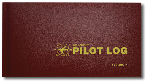 Aviation Supplies & Academics ASA-SP-40 Burgundy The Standard™ Hardcover Standard Pilot Log Book