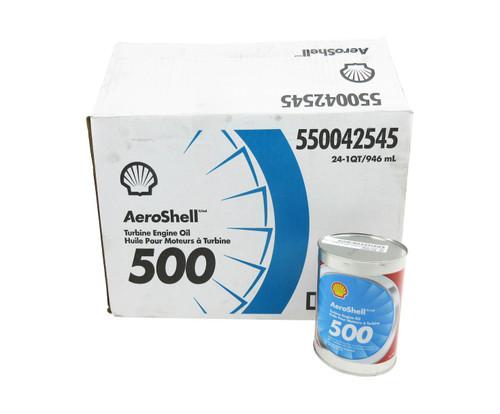 AeroShell Turbine Oil 500 Synthetic Turbine Engine Oil - 24 Quart/Case