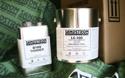 Sandstrom LC-300 Flat Dark Gray AS5272 Type I & II Spec Heat Cure Solid Film Lubricant - Gallon Can/½ Gallon D169 Kit