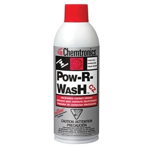 Chemtronics® ES6300 Pow-R-Wash™ VZ Clear Electronics Contact Cleaner - 340 Gram (12 oz) Aerosol Can