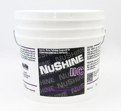 Nuvite PC220610LB Nushine II Grade C Oxidation Removal & Repolish Metal Polishing Compound - 10 lb Pail