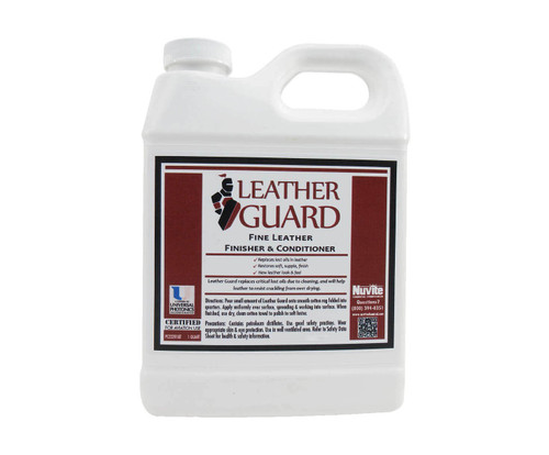 Nuvite PC22281QT Leather Guard Aircraft Fine Leather Conditioner, Cleaner & Finisher - Quart Bottle