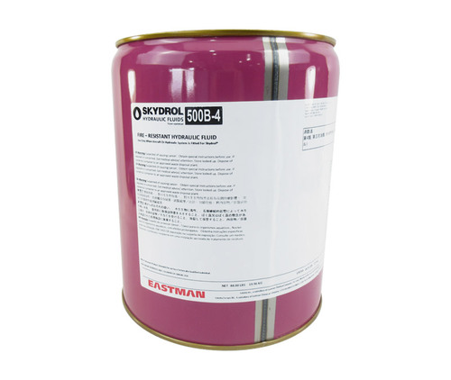 Eastman™ Skydrol® 500B-4 Purple BMS3-11P Type IV, Class 2 Spec Fire Resistant Hydraulic Fluid - 18.42 Kg (5 Gallon) Steel Pail