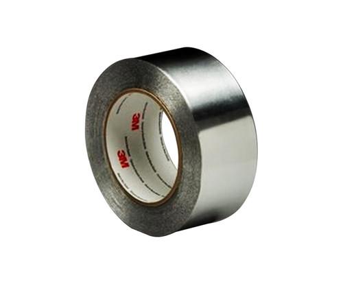 """3M™ 051125-85313 Silver 425 Aluminum 4.6 Mil Foil Tape - 4"""" x 60 Yard Roll"""
