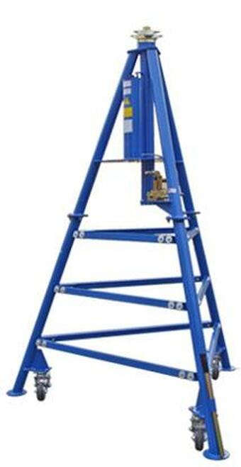 Tronair® 02-7839C0111 Blue 18-Ton Hydraulic Tripod Jack (CE)
