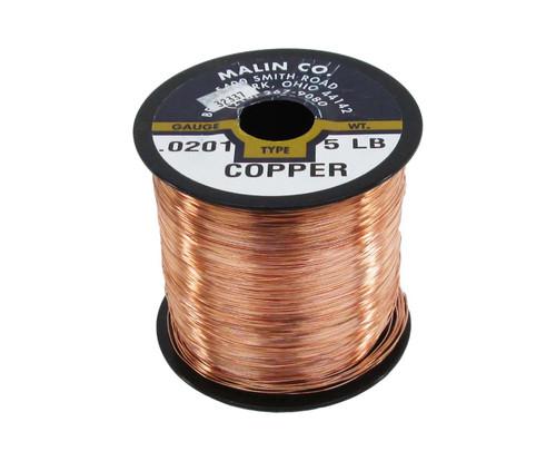 """Malin 11-0201-005S Copper 0.0201"""" #24 Breakaway Wire (5 lb Spool)"""