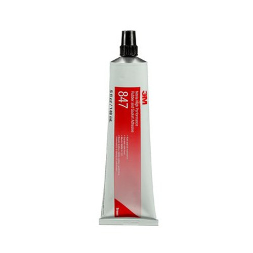 3M™ 021200-19718 Scotch-Weld™ 847 Brown Nitrile High Performance Rubber & Gasket Adhesive - 5 oz Tube