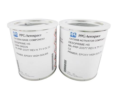 PPG Aerospace® Desoprime™ CA7255A/B Dark Green MIL-PRF-23377 Type II C2 Spec High-Solids Military Epoxy Primer - 1:1 Gallon Kit