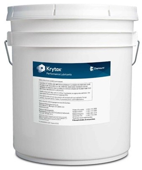Chemours™ Krytox™ GPL 205 White PTFE Thickened Standard General-Purpose Grease - 20 Kg Pail