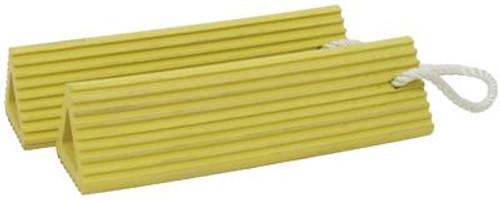"Tronair® 99-9016-6030 Yellow 30"" Aircraft Wheel Chocks"