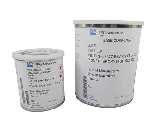 PPG Aerospace® Deft® 02-Y-040C Yellow MIL-PRF-23377K Type I, Class C2 High Solids Epoxy Quick Dry Primer - Gallon Kit