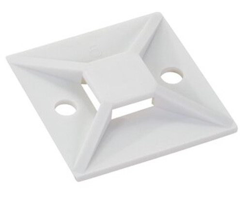 HellermannTyton MB-5A Cable Tie Mount - White - #8 - 18-150lb