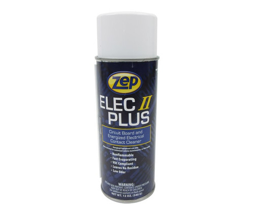 ZEP® 0283 Elec II Plus™ Clear Circuit Board & Electrical Fast Evaporating Contact Cleaner - 10 oz Aerosol Can