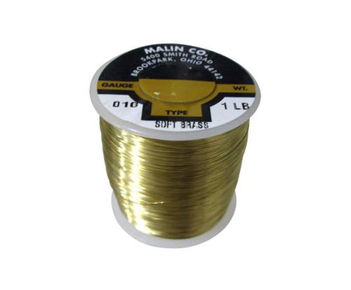 "Malin 26-0100-001S CDA 260 Soft Brass 0.0100"" #30 ASTM B134 Spec Breakaway Wire (1 lb Roll)"