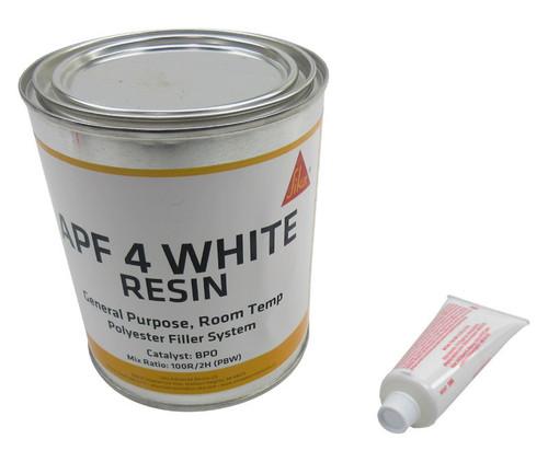 Axson Technologies APF-4 White Premium Grade Low Shrinkage Polyester Filler - Quart Kit