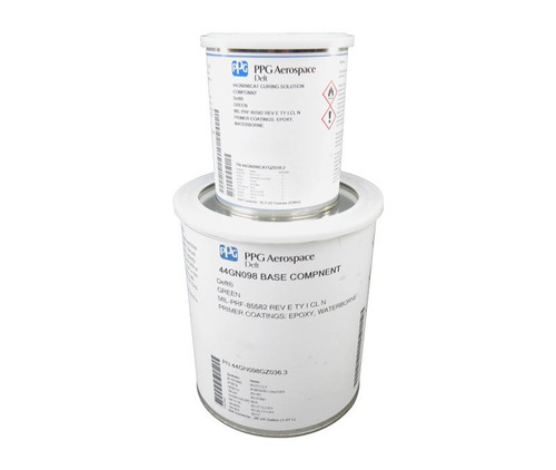 PPG Aerospace® Deft® 44-GN-098 Green MIL-PRF-85582 Type I Class N Spec Chrome Free Water Reducible Epoxy Primer - Gallon Kit
