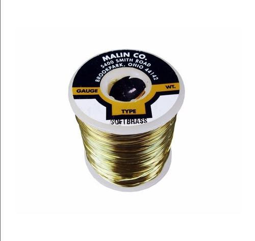 "Malin 26-0508-001S CDA 260 Soft Brass 0.0508"" #16 ASTM B134 Spec Breakaway Wire (1 lb Roll)"