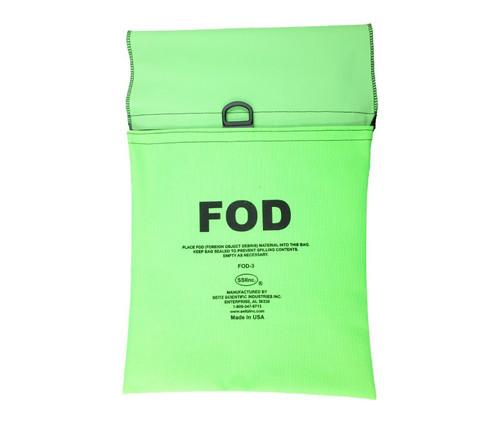 Seitz Scientific FOD-3 Fluorescent Green FOD Bag attaches to Maintenance Stand Hand Rail
