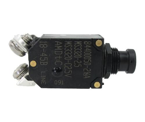 Military Standard MS3320-2-1/2 Circuit Breaker - 2-1/2 AMP