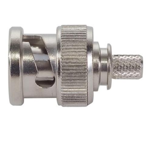 TE Connectivity RBD50-S-00 Brass/Nickle RG-174, RG-178, RG-188, RG-196, RG-316 BNC Straight Connector, Plug, Electrical
