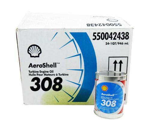 AeroShell Turbine Oil 308 Synthetic Turbine Engine Oil - 24 Quart/Case