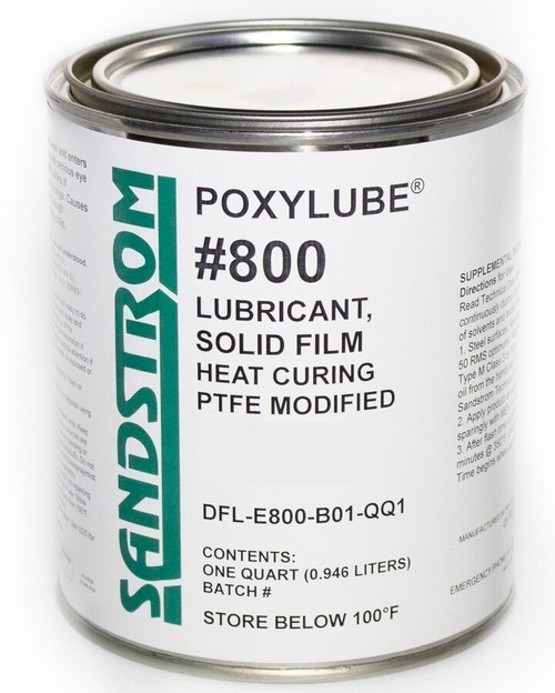 Sandstrom Poxylube® #800 Clear PTFE Modified Heat Cure Dry Film Lubricant - Quart Can