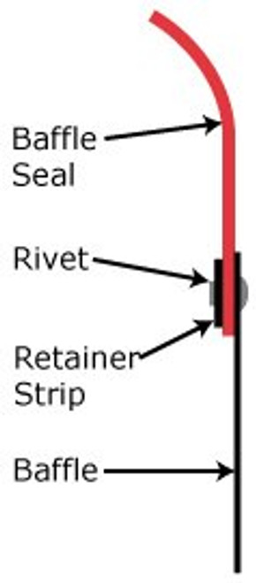 McFarlane Aviation 6036-012 Baffle Seal Retainer Strip