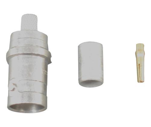 TE Connectivity 225396-1 Copper/Silver RG-58, A, B & C Female Crimp BNC Connector, Plug, Electrical