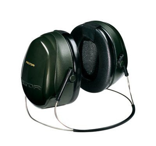 3M™ H7B PELTOR™ Optime™ 101 Black/Green 27 db Behind-the-Head Earmuff