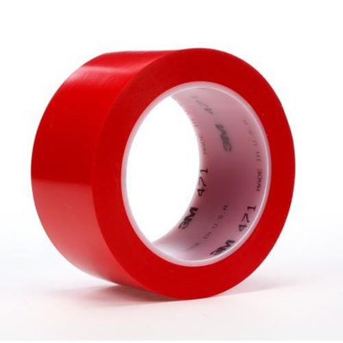 """3M™ 021200-06469 Red 471 5.2 Mil Vinyl Tape - 3"""" x 36 Yard Roll"""