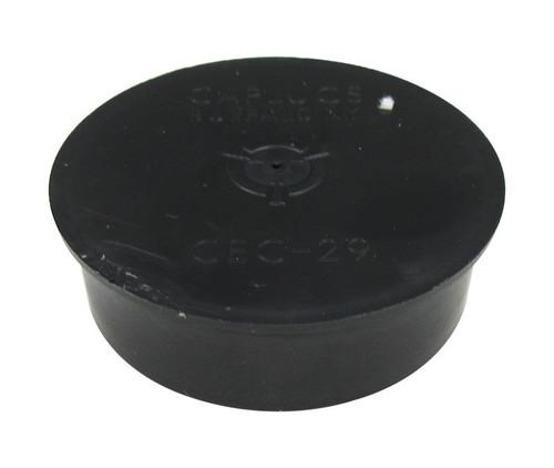 "Caplug CEC-29 Black 1-13/16"" Conductive Cap for Threaded Connector"