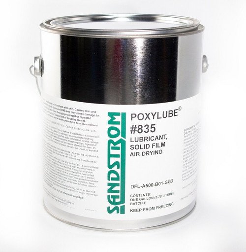 Sandstrom Poxylube® #835 Black Waterborne Air Dry Film Lubricant - Gallon Can