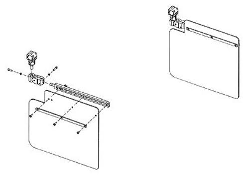 Rosen R1710000-11 Universal Tube Mounted Complete Sunvisor System Kit