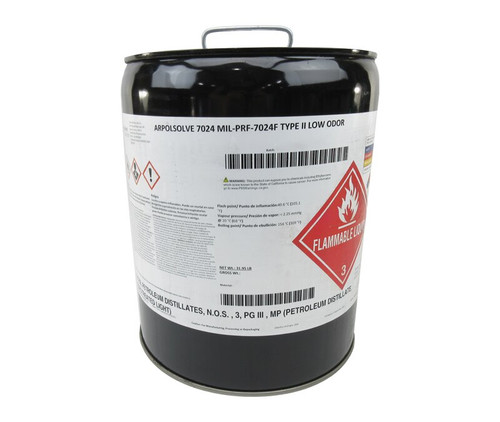 ARPOLSOLVE 7024 Clear MIL-PRF-7024F Type II Spec Aircraft Fuel System Component Calibrating Fluid - 5 Gallon Pail