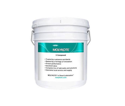 Dupont™ 1954016 MOLYKOTE® 4 White Electrical Insulating Compound - 3.6 Kg (8 lb) Pail