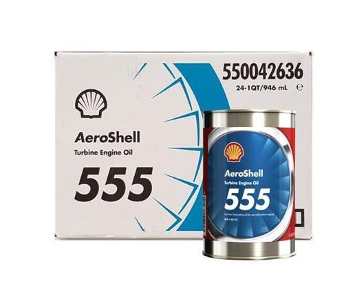 AeroShell Turbine Oil 555 Synthetic Turbine Engine Oil - 24 Quart/Case