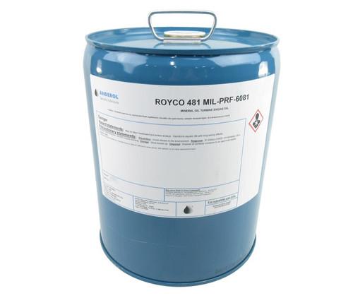 ROYCO® 481 Yellow MIL-PRF-6081E, Grades 1010/1010N Spec Turbine Engine Corrosion Preventative Compound - 5 Gallon Pail