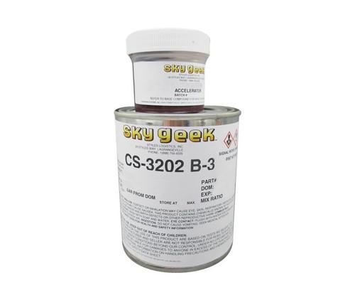 Flamemaster CS-3202 B-3 Black A-A-59293 Spec Optical Sealant - Pint (12 fl oz) Can Kit