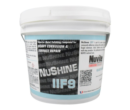 Nuvite PC224110LB Nushine II Grade F9 Heavy Corrosion, Scratches & Pitting Reducing Metal Polishing Compound - 10 lb Pail