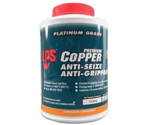 LPS® 02910 Copper Anti-Seize Lead-Free Lubricant - 1 lb Brush Top Jar
