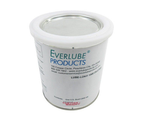 Everlube® Lube-Lok® 1000 Diluted Gray/Black Everlube® Standard Spec Vitreous Bonded High-Temperature Solid Film Lubricant - Quart Can